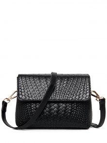 Woven PU Leather Crossbody Bag