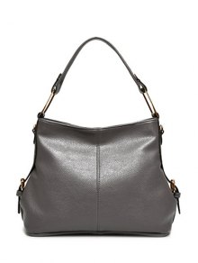 Textured PU Side Buckle Shoulder Bag