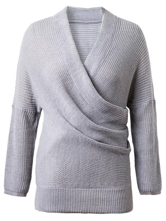 Crossover suéter - Gris Única Talla