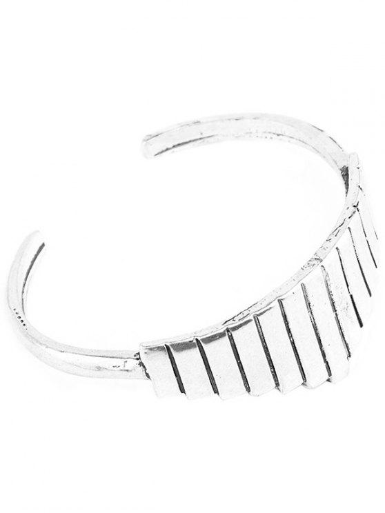 Vintage Geometric Alloy Cuff Bracelet -   Mobile
