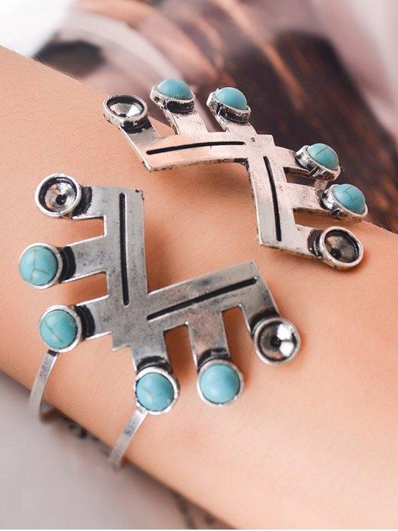 Geometric Faux Turquoise Boho Bracelet Jewelry -   Mobile
