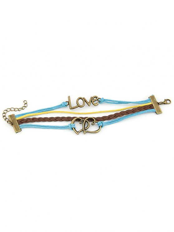 Hearts Love Braided Bracelet -   Mobile