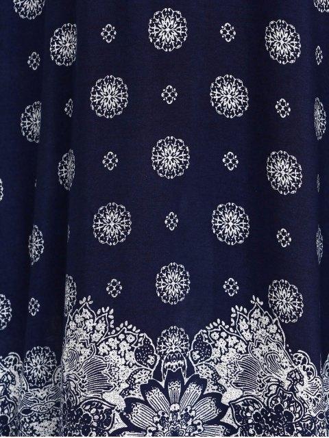 trendy Bohemian High Furcal Maxi Dress - BLUE ONE SIZE Mobile