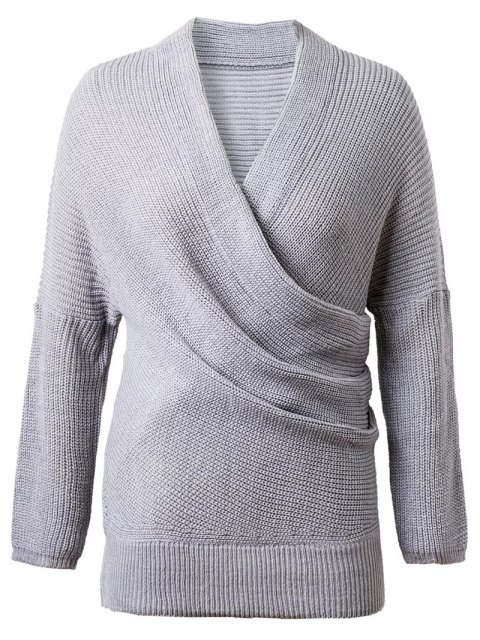 new Crossover Sweater - GRAY ONE SIZE Mobile