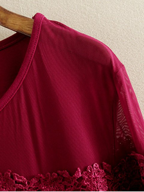 lady Plus Size Tunic Dress - BLACK 2XL Mobile