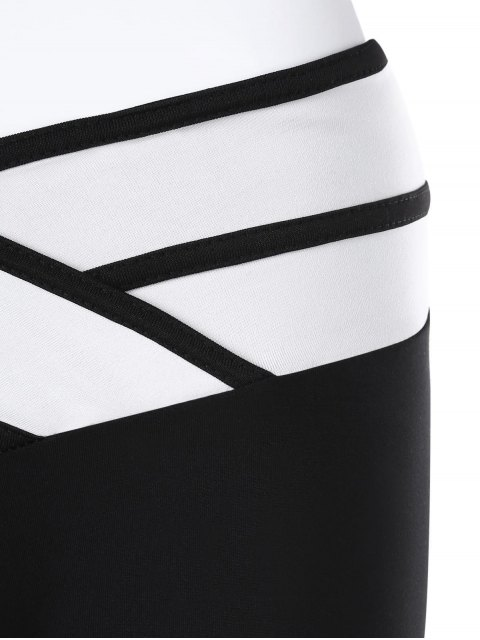 lady Slim Sporty Capri Pants - BLACK L Mobile