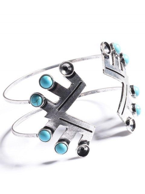 womens Geometric Faux Turquoise Boho Bracelet Jewelry -   Mobile