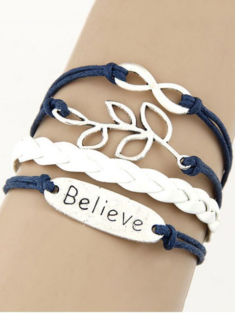 trendy Olive Branch Braid Bracelet - BLUE  Mobile