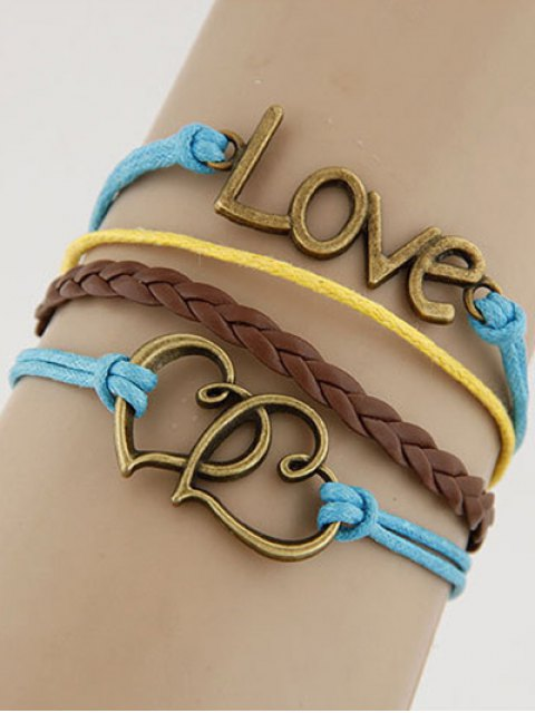 chic Hearts Love Braided Bracelet - COLORMIX  Mobile