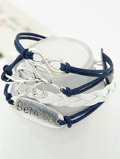 Olive Branch Braid Bracelet - BLUE  Mobile