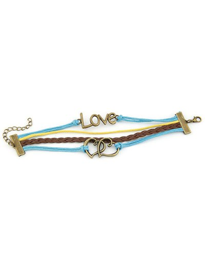 Hearts Love Braided Bracelet - COLORMIX  Mobile