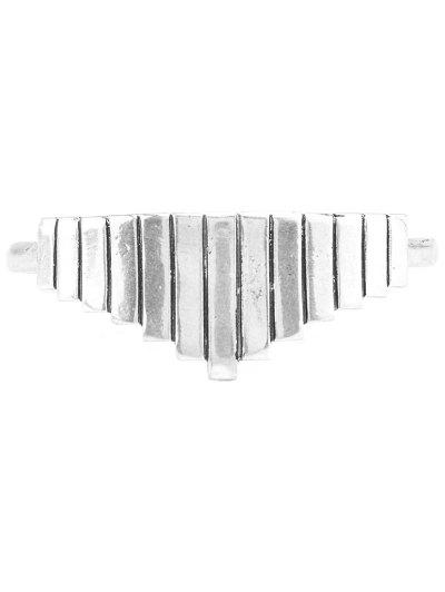 Vintage Geometric Alloy Cuff Bracelet - SILVER  Mobile