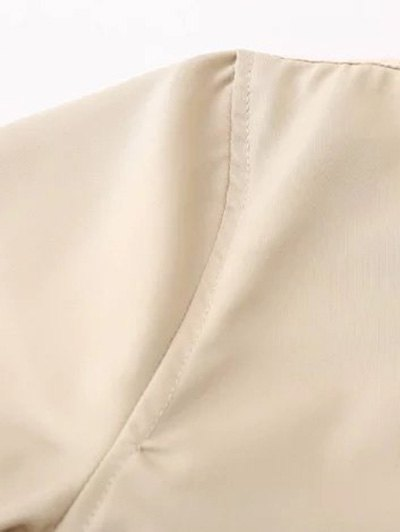 Zipped Layered Hem Jacket - COMPLEXION S Mobile