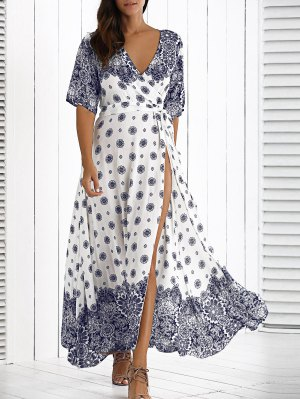Maxi Crossover Dress With Belt