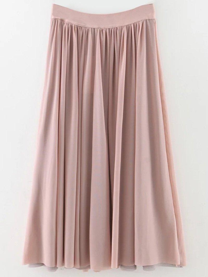 Layers Mesh Midi Skirt