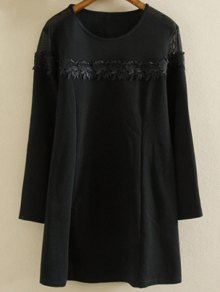 Plus Size Tunic Dress - Black 2xl