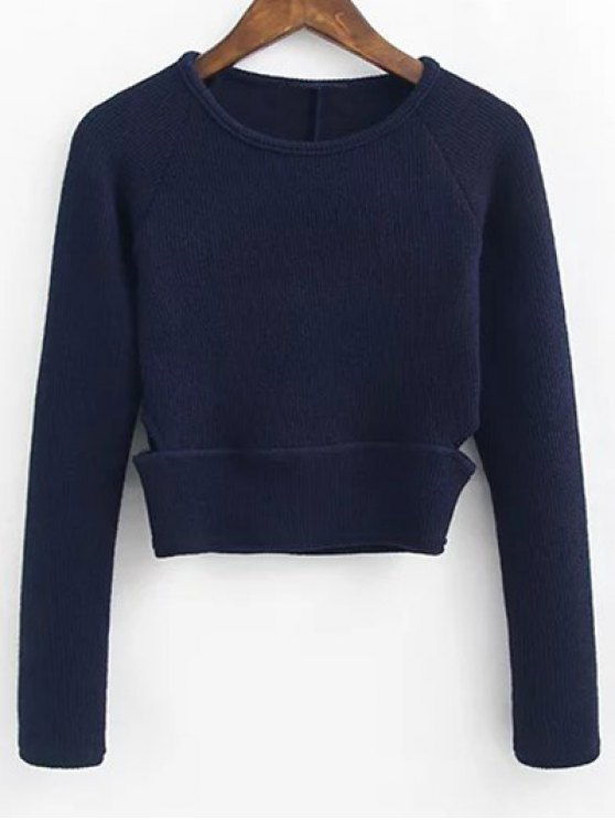 Pullover Sweater and Knit Skirt - CADETBLUE M Mobile
