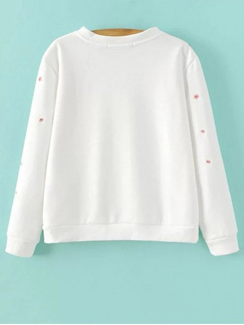 latest Titoni Embroidered Sweatshirt - WHITE S Mobile