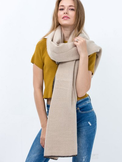 Hemming Long Scarf - OFF-WHITE  Mobile