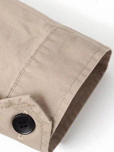 Khaki Trench Coat - KHAKI S Mobile