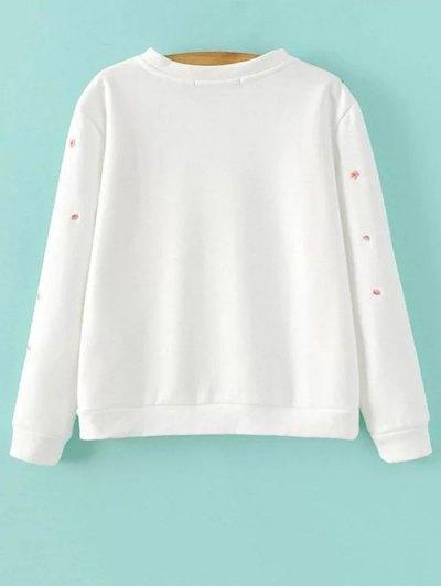 Titoni Embroidered Sweatshirt - WHITE M Mobile