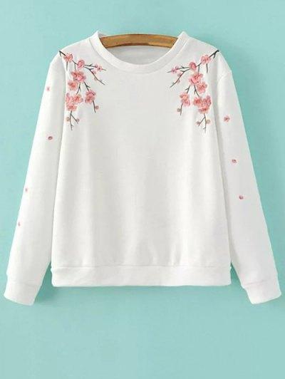Titoni Embroidered Sweatshirt - WHITE S Mobile