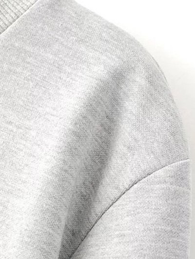 Parrot Embroidered Sweatshirt - LIGHT GRAY S Mobile