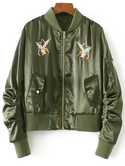 Embroidered Jacket - Green
