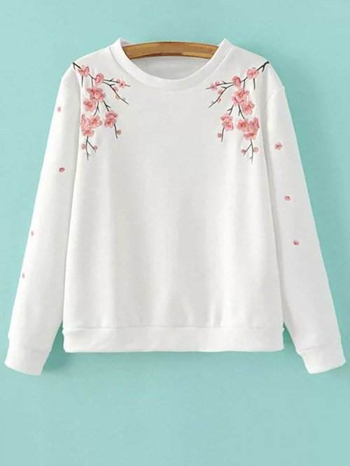Round Neck Titoni Embroidered Sweatshirt
