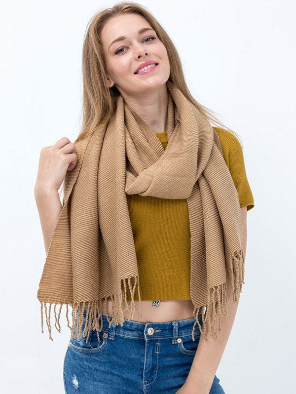 Tassel Long Scarf