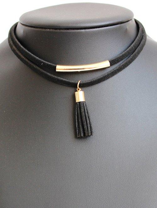 Tasseled Layered Choker Necklace