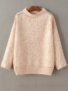 High Neck Crochet Sweater