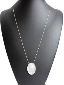 Shell Pendant Necklace - Golden