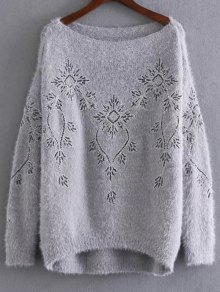 Embroidered Sequins Mohair Sweater