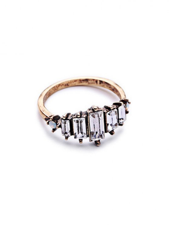 Faux Crystal Ring - GOLDEN ONE-SIZE Mobile