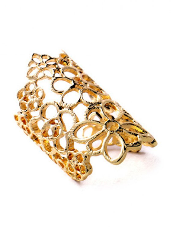 Hollowed Flower Ring - GOLDEN  Mobile