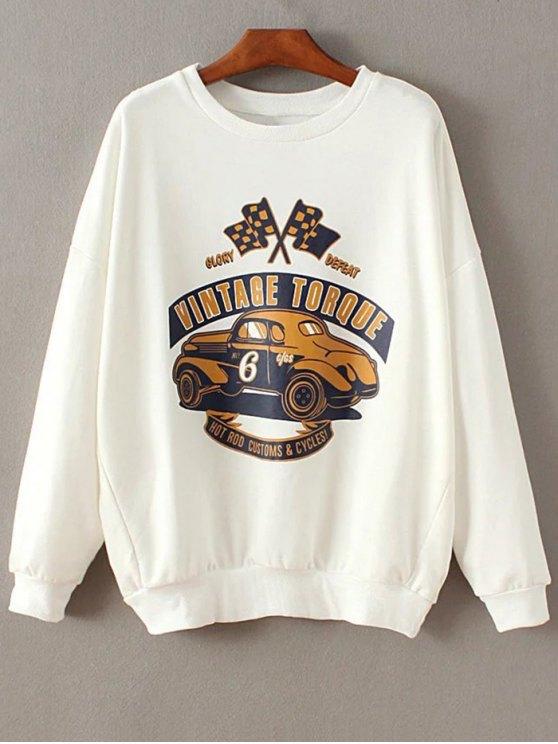 Épaule Drop Sleeve Sweatshirt - Blanc S