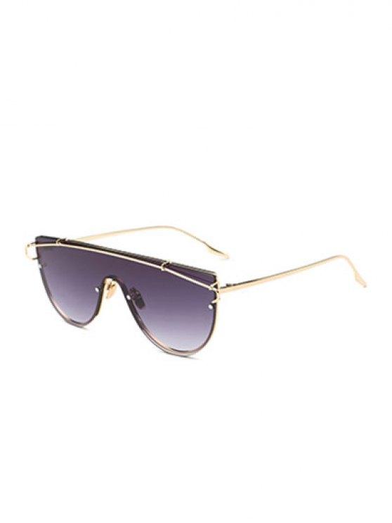 La barra transversal escudo gafas de sol - Dorado