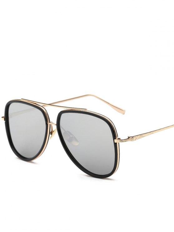 Gafas de sol de espejo piloto - Plata