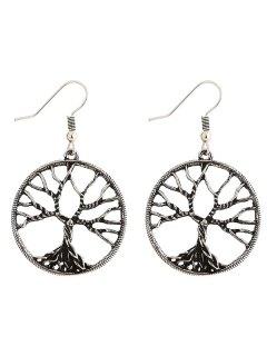 Pair Of Tree Of Wisdom Earrings - Silver