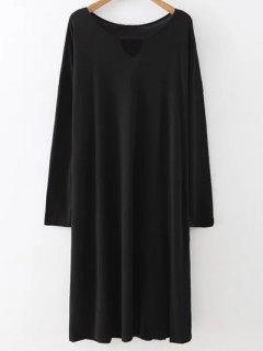 Furcal Midi Robe Pull - Noir