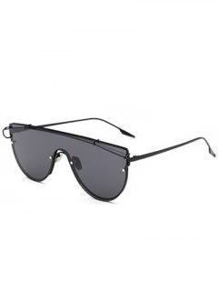 Cross-Bar Sheild Sunglasses - Black