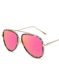 Fleck Pilot Sunglasses - Rose Red