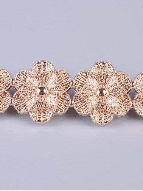 new Flowers Elastic Skinny Belt - GOLDEN  Mobile