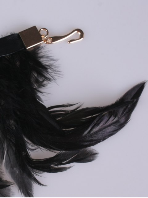 unique Long Feathers Tassel Belt - BLACK  Mobile