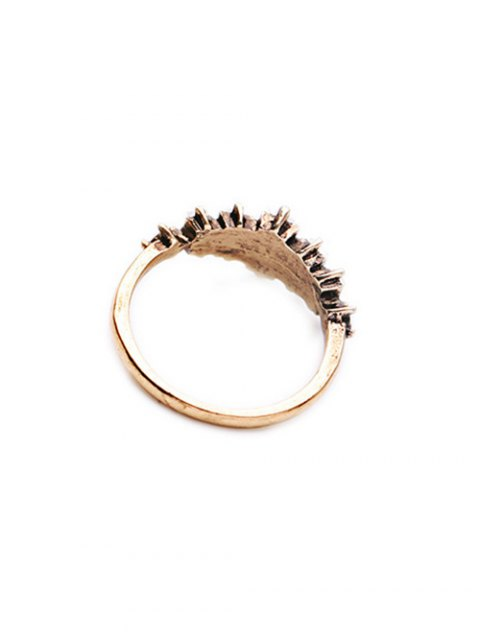 affordable Faux Crystal Ring - GOLDEN ONE-SIZE Mobile