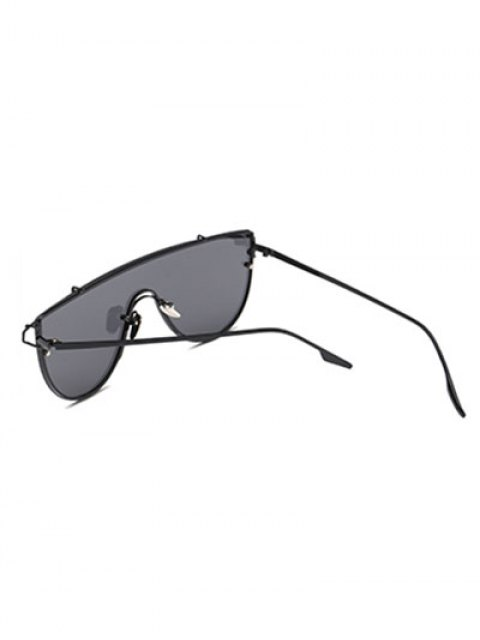 ladies Cross-Bar Sheild Sunglasses - BLACK  Mobile