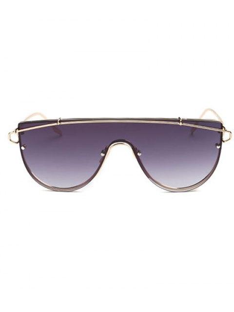lady Cross-Bar Sheild Sunglasses - GOLDEN  Mobile