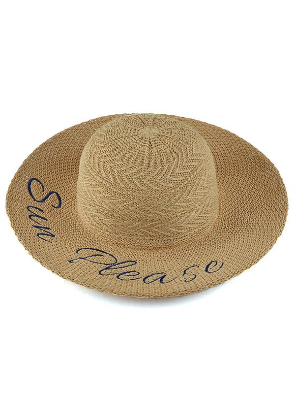 Embroidery Arrow Straw Hat