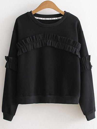 Round Collar Long Sleeve Sweatshirt